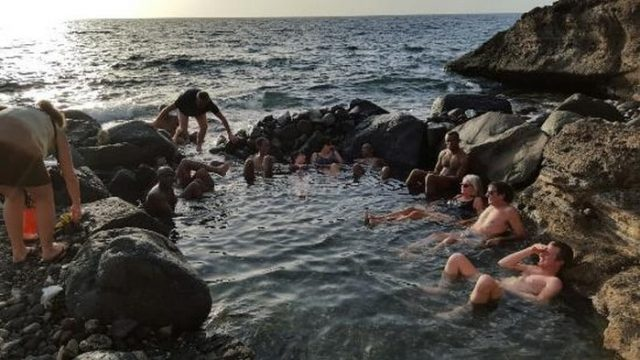 Natural Hot Springs In The Bay Of Bouillante Guadeloupe